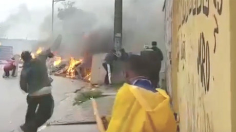 Sao Paulo's streets burn as protesters hurl Molotovs at police (VIDEO)