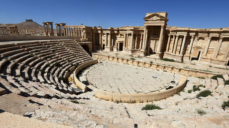 A partial view of the roman theatre in the ancient city of Plamyra central Syria. © Joseph Eid