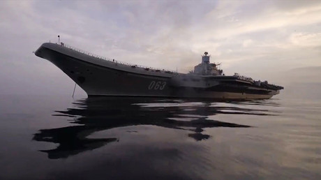 Admiral Kuznetsov heavy aircraft-carrying missile cruiser in the Mediterranean Sea near Syria © Ministry of defence of the Russian Federation