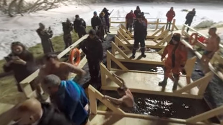 Freezing Waters: Russians take icy dip on Epiphany (360 Video)