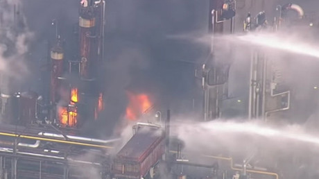 Massive fire breaks out at Japanese petrolium plant