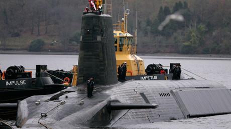 FILE PHOTO Crew from HMS Vengeance, a British Royal Navy Vanguard class Trident Ballistic Missile Submarine © David Moir