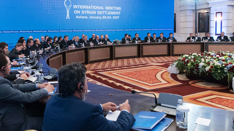 Participants in a meeting on Syria in Astana. © Bolat Shaykhinov