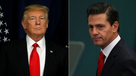 U.S. President Donald Trump and  Mexico's President Enrique Pena Nieto © Reuters