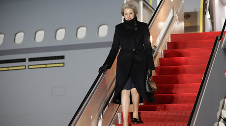 Theresa May Visits The United States Of America © Christopher Furlong
