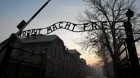 Entrance gate to Auschwitz-Birkenau camp. © Agencja Gazeta