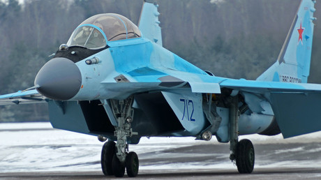 The MiG-35 fighter after demonstration flight during its presentation in the Moscow Region. ©  Sergey Mamontov