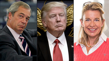 Nigel Farage (L), Donald Trump (C), Katie Hopkins (R) © Reuters / Globallookpress.com