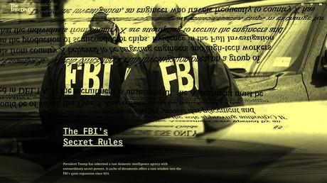 Screenshot of The Intercept's investigation, 'The FBI's Secret Rules'