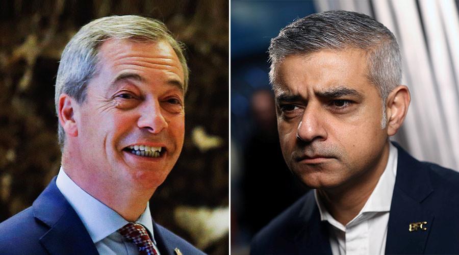 Farage brands London mayor 'hypocrite' for hosting diplomats from nations banning Israelis