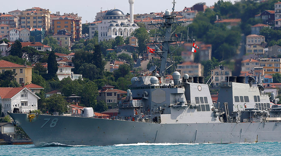 US destroyer enters Black Sea for naval drills & ensuring 'maritime security'