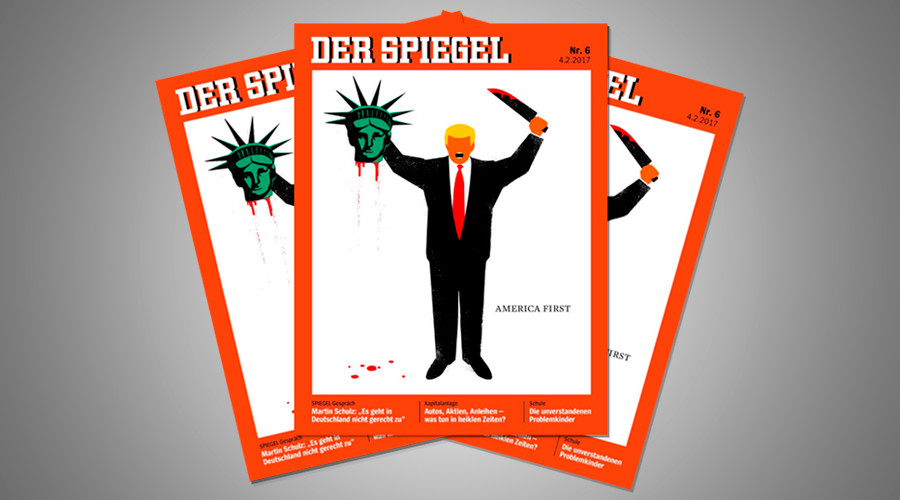 Trump beheads lady liberty in controversial der spiegel for De4r spiegel