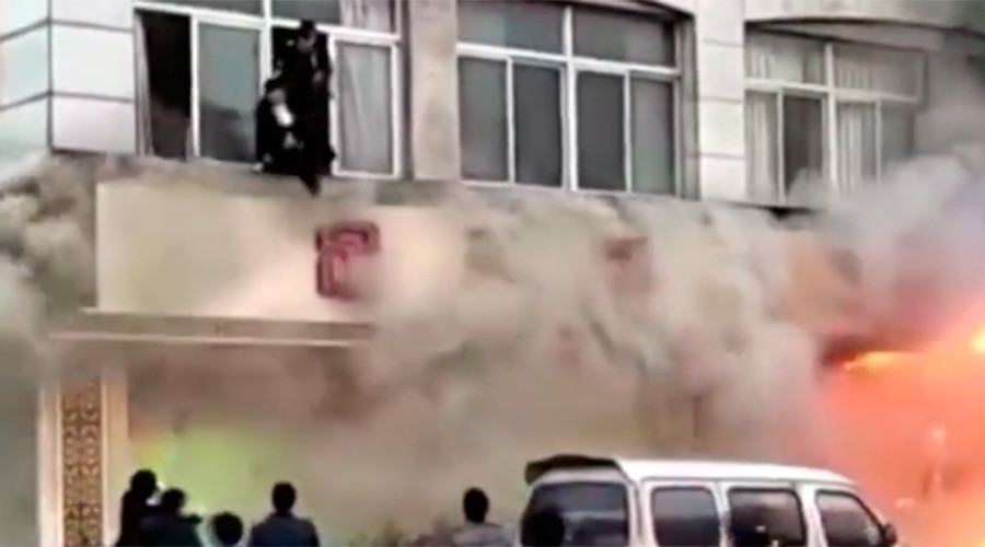 18 people die in fire at foot spa in eastern China – reports (GRAPHIC VIDEO)