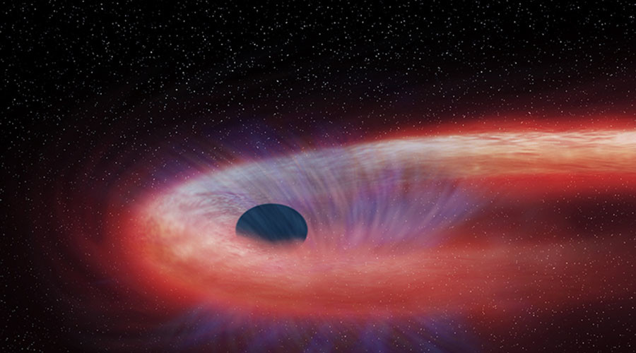 Interstellar happy meal: Supermassive black hole snacks on star for a decade (PHOTOS, VIDEO)