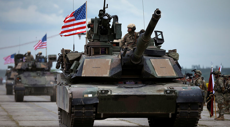 US tanks, infantry fighting vehicles arrive in Estonia amid NATO buildup on Russian borders