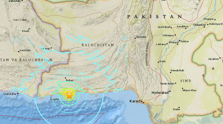 6.3 quake strikes off southern Pakistan – USGS