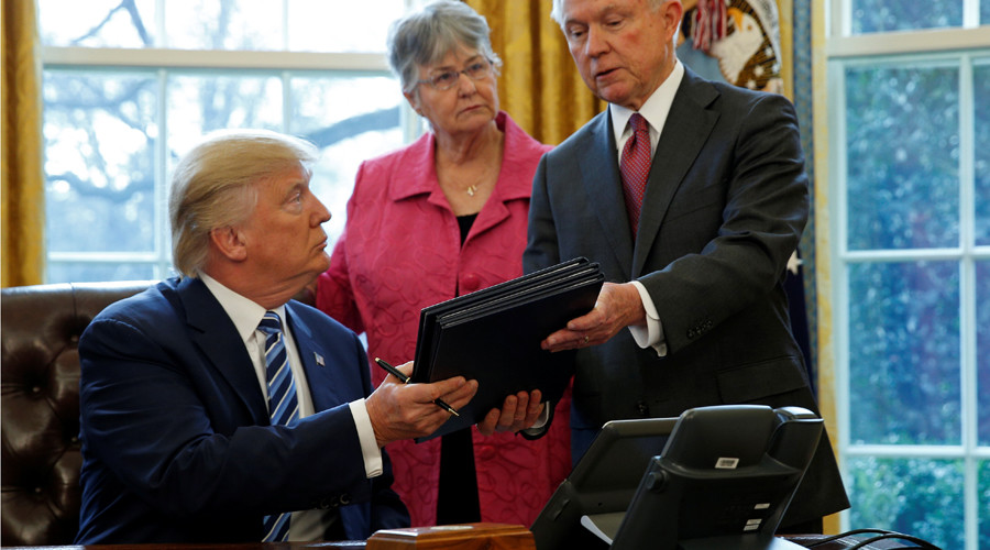Trump signs executive orders targeting drug cartels, attacks on police officers & crime reduction