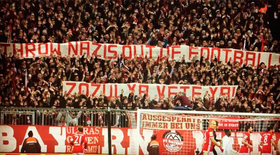'Throw Nazis out of football': Bayern Munich FC fans protest Ukrainian international Zozulya
