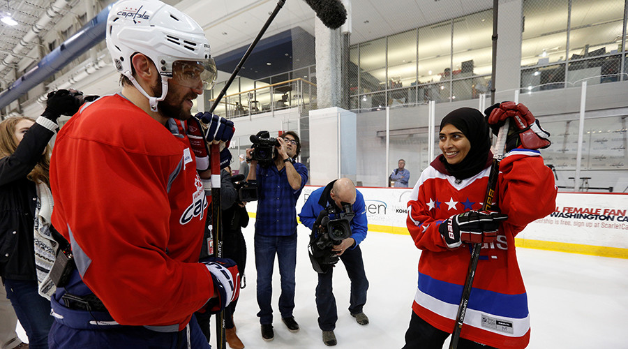 UAE women's ice hockey player impresses her heroes on US visit