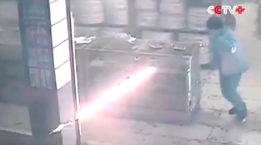 Explosive combination: Drunken arsonist causes havoc at fireworks shop (VIDEO)