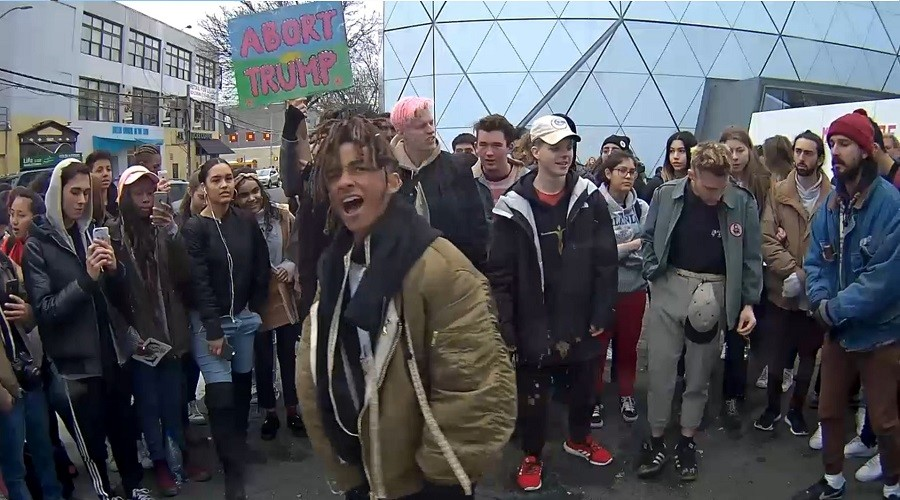 Shia LaBeouf's 'He Will Not Divide Us' art installation closed due to violence at museum