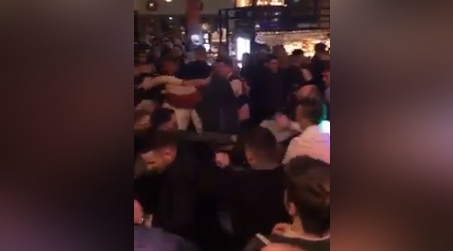 Mass bar brawl involving 100 people caught on camera (VIDEO)