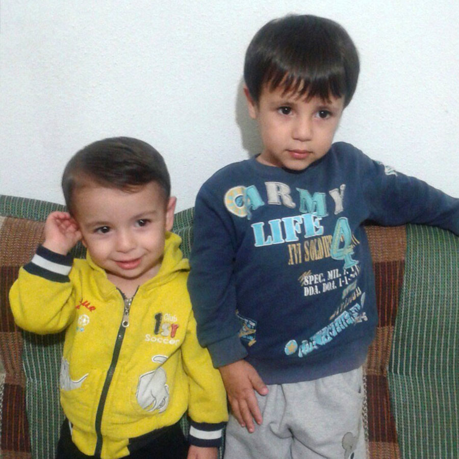 Aylan (L) and his brother Ghalib Kurdi (photo courtesy of Tima Kurdi)