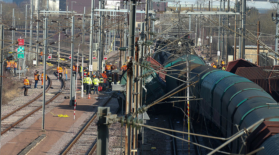 Passenger & freight trains collide in Luxembourg, police report 1 dead