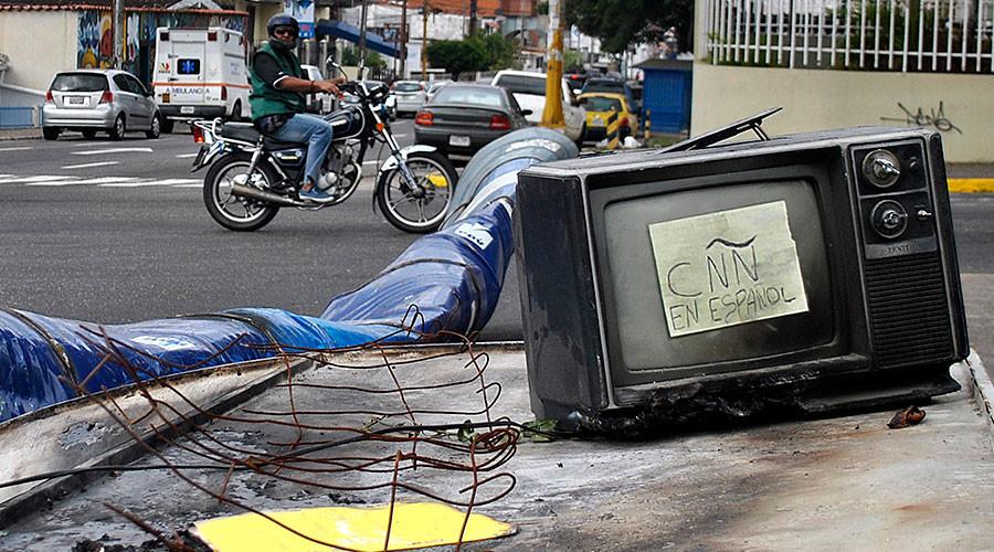 Venezuela shuts down CNN for 'misinterpreting & distorting truth'