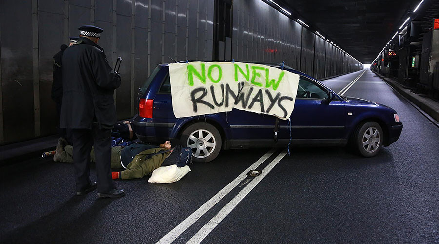 Heathrow hit by gridlock delays due to climate change protest