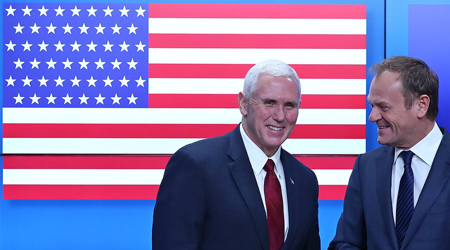 EU shows US flag with 51 stars instead of 50 during Pence's visit to Brussels