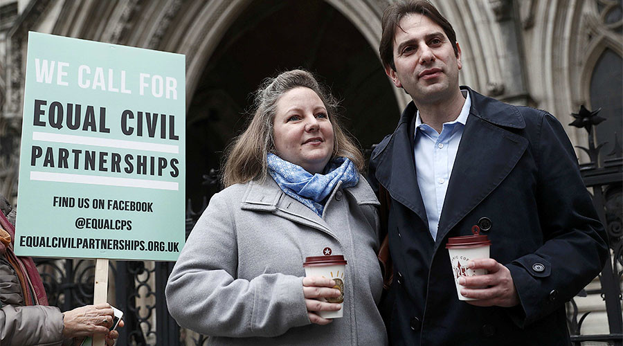 Heterosexual couple denied civil partnership in possible 'breach of human rights'