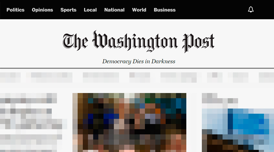 'Please buy our failing paper': WaPo trolled over dramatic new masthead slogan