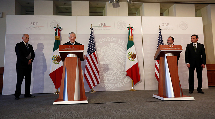 Tillerson & Kelly face 'tough trip' to meet with Mexican counterparts