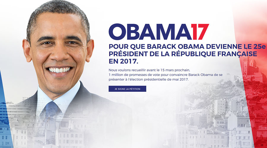 Group of Parisians launch Obama 2017 French presidential campaign