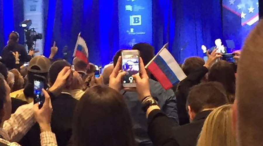 False flags: 'Russian Trump pennants' prank at CPAC causes social media meltdown