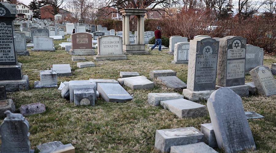 Vandals topple scores of headstones at Jewish cemetery in Philadelphia (VIDEO)