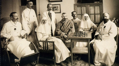 Members of the Romanov family serving in a hospital during World War I ©