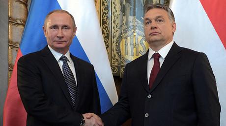 Russian President Vladimir Putin and Hungarian Prime Minister Viktor Orban, Budapest, Hungary, February 2, 2017. © Alexei Druzhinin