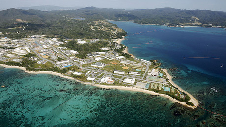 U.S. Marine base Camp, on the southern Japanese island of Okinawa © Kyodo