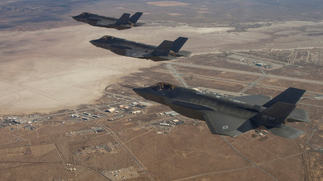 Three F-35 Joint Strike Fighters © Courtesy of Lockheed Martin