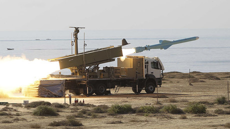 An Iranian long-range shore-to-sea missile called Qader (Capable). © Jamejamonline / Ebrahim Norouzi