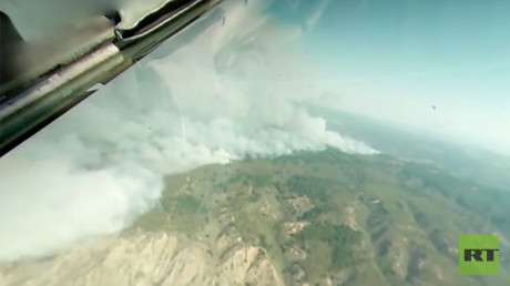 360 aerial video: Russian plane helps battle worst wildfires in Chile