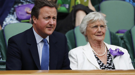 Former Britain's Prime Minister David Cameron with his mother Mary Cameron © Stefan Wermuth