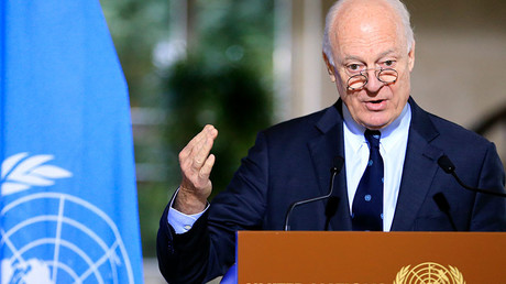 U.N. mediator for Syria Staffan de Mistura © Pierre Albouy
