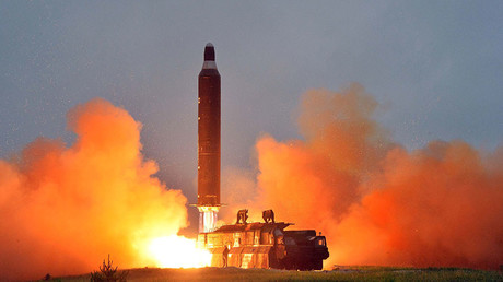 (ARCHIVE) North Korea test-launches Hwasong-10 intermediate-range ballistic missile on June 23, 2016 © KCNA