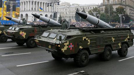 Ukrainian OTR-21 Tochka-U mobile missile launch systems. ©Gleb Garanich
