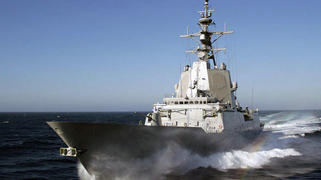 Spanish frigate Almirante Juan de Borbón. ©USN