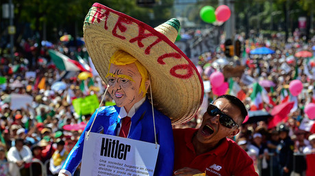 Thousands hold anti-Trump rally in Mexico