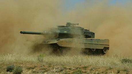 A Leopardo 2E tank © Cristina Quicler
